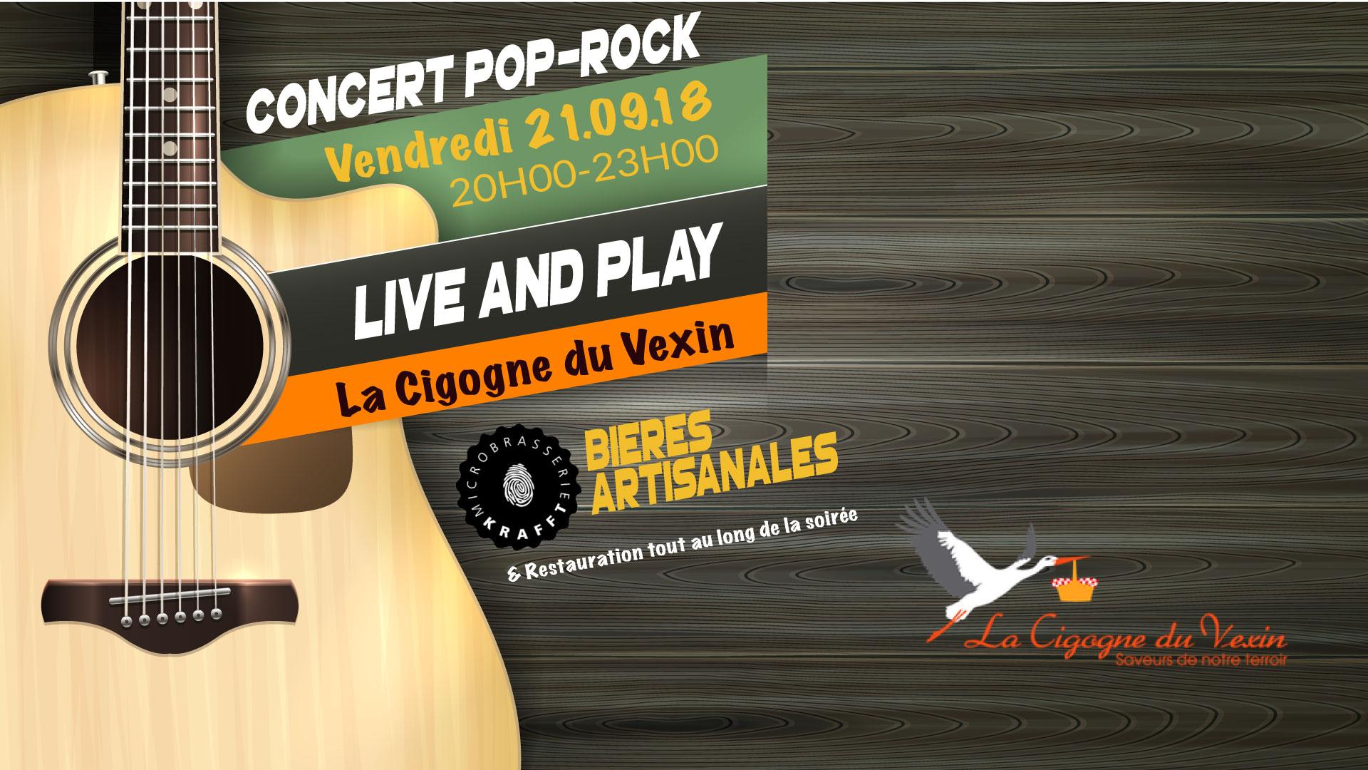 Concert Live & Play à la Cigogne du Vexin